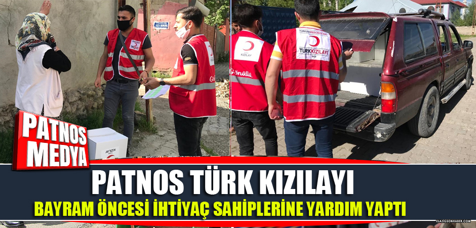 Patnos'ta Türk Kızılayı bayram öncesi ihtiyaç sahiplerine yardım yaptı.