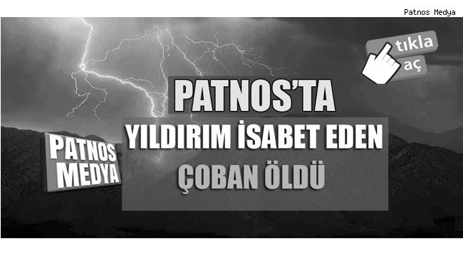 Patnos'ta Yıldırım Can Aldı