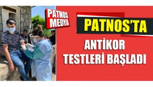 Patnos'ta Antikor Testleri Başladı