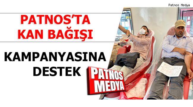 Patnos'ta Kan Bağışı Kampanyasına Destek