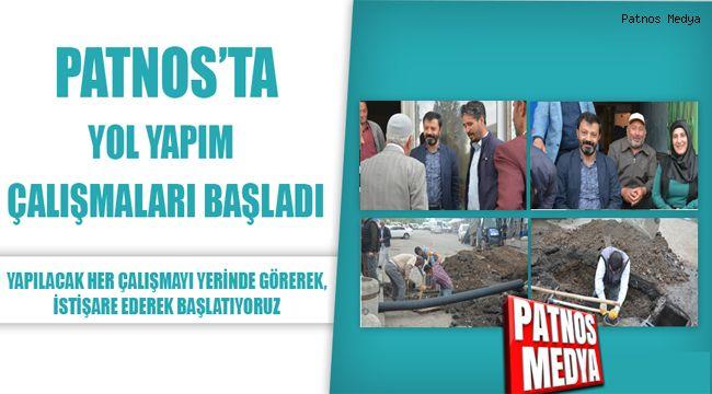 Patnos'ta Yol Yapım Çalışmaları Başladı