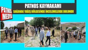 Patnos Kaymakamı yağış bölgesinde incelemelerde bulundu.