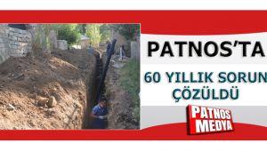 PATNOS'TA 60 YILLIK SORUN ÇÖZÜLDÜ