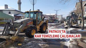Patnos Belediyesinden karla mücadele çalışması