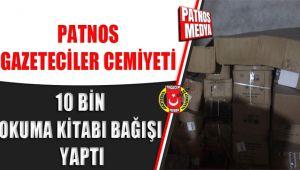 Patnos Gazeteciler Cemiyeti'nden 10 Bin Okuma Kitabı Bağışı yapıldı.