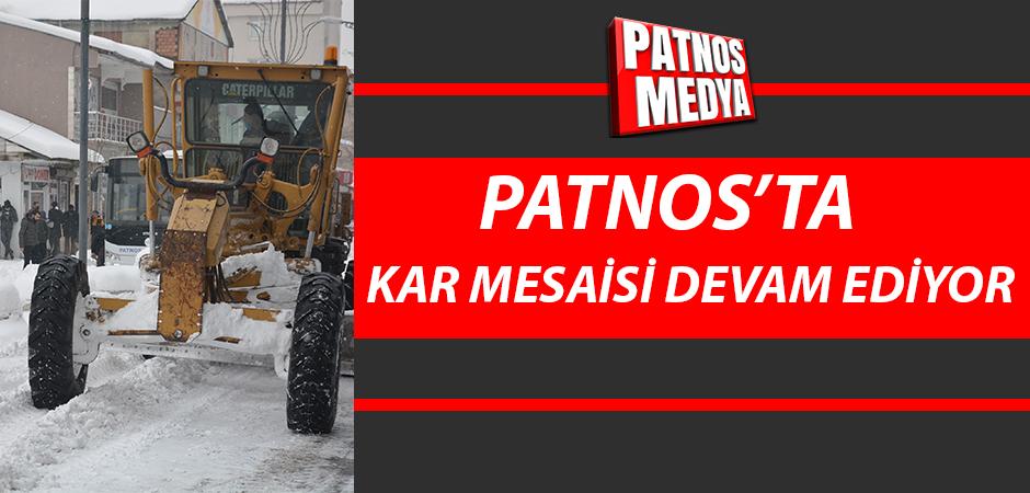 Patnos'ta kar yığınları kamyonlarla şehir dışına taşınıyor