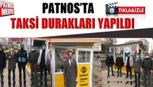Patnos'ta taksi durakları yapıldı