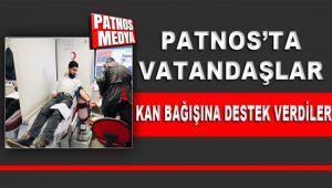 Patnos'ta Vatandaşlar Kan Bağışına Destek Verdiler.