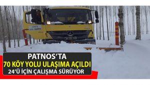 Yağan kar yağışı hayatı olumsuz etkiledi Patnos'ta köy yollarında çalışmalar devam ediyor