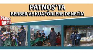Patnos'ta berber ve kuaförlere denetim gerçekleşti.