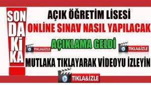Sondakika: Açıköğretim Online Sınav Nasıl yapılacak açıklandı.!!