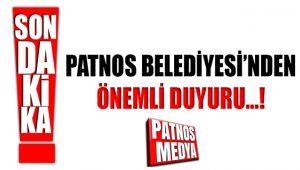 Patnos Belediyesi'nden Osmanlı Parkı için Önemli Duyuru.