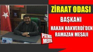 Patnos Ziraat Odası Başkanı Hakan Hakverdi'nin Ramazan Mesajı