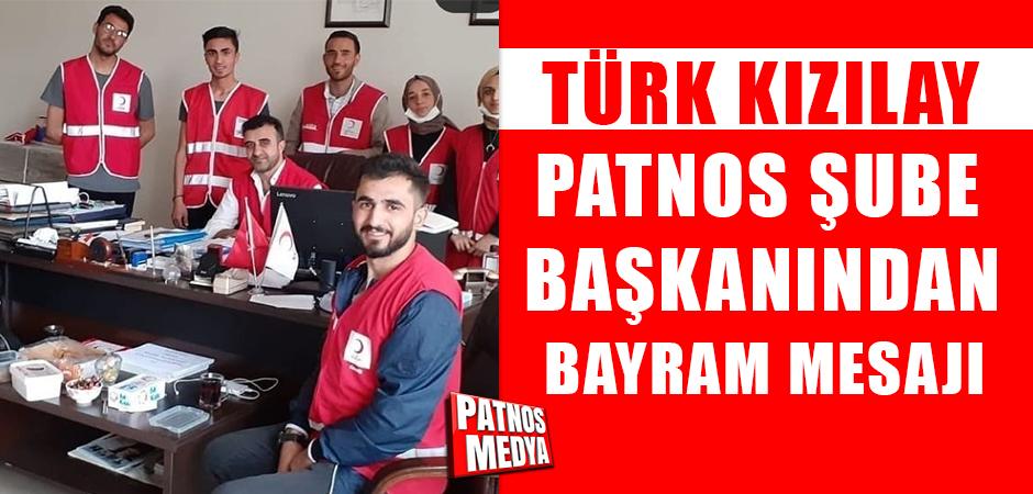 Türk Kızılay Patnos Şube Başkanından Bayram Mesajı