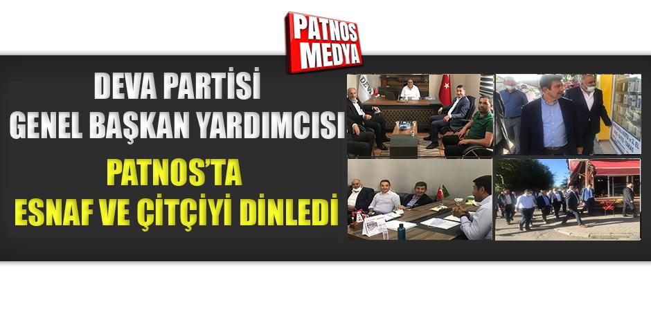 DEVA Partisi Heyeti, Patnos'ta esnaf ve çiftçiyi dinledi