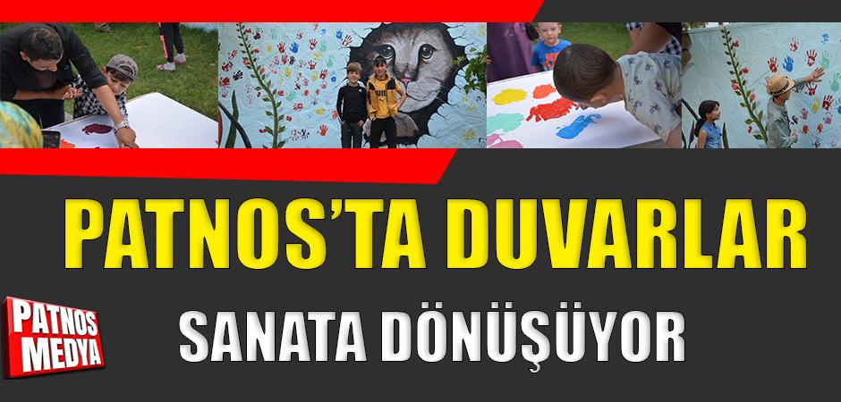 Patnos'ta Duvarlar Sanata Dönüşüyor