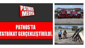 PATNOS'TA TATBİKAT GERÇEKLEŞTİRİLDİ.