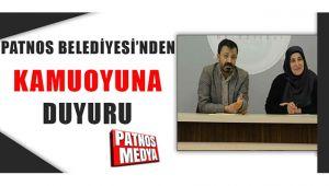 PATNOS BELEDİYESİ'NDEN BEKLENEN AÇIKLAMA GELDİ