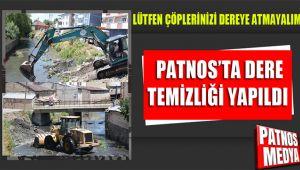 Patnos'ta dere temizliği yapıldı