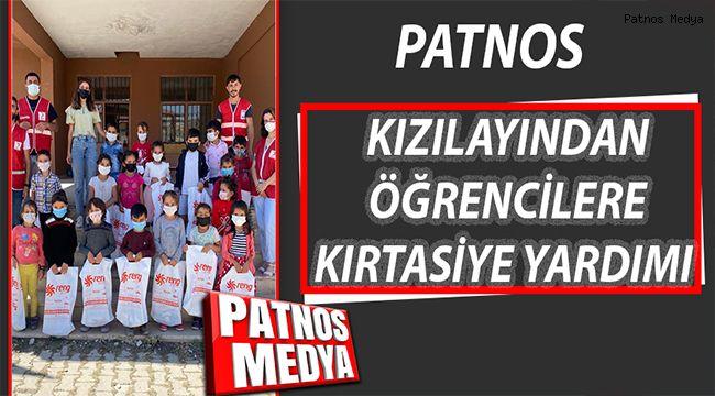 Patnos Kızılay'dan Öğrencilere Kırtasiye Yardımı